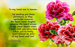 For a Loved One In Heaven